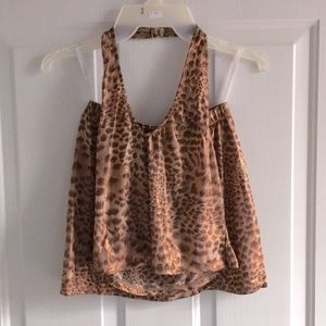 New Womens 2Pc Animal Print Top & Mini Skirt S M L